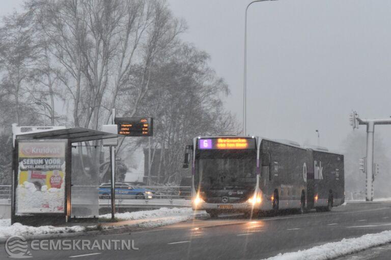 Code rood afgegeven voor Groningen; Qbuzz stopt ritten
